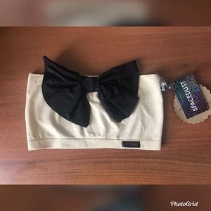 Tops - Nude bow bandeau
